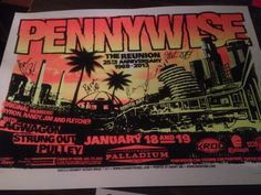 Pennywise Poster at their Portland Oregon concert.  25 YEARS