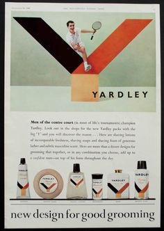 Yardley - 1960 - New Design For Good Grooming Vintage Sport, Vintage Ads, Elevator Design, Male Grooming, Old Ads, News Design, Lotion, Advertising, Cosmetics