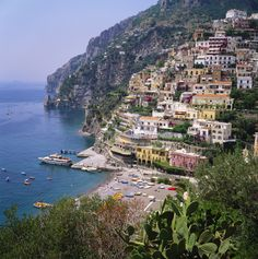 The 20 Most-Pinned Travel Locations Will Give You a Serious Case of Wanderlust - Positano, Campania, Italy  - from InStyle.com