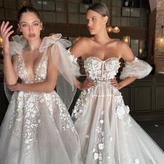 Coolest girl gang #Berta #vakkowedding #bridal Wedding Gowns, Lace Wedding, Girl Gang, Cool Girl, Ball Gowns, Bridal, Fashion, Homecoming Dresses Straps, Ballroom Gowns