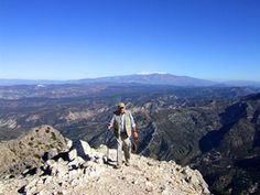 Top of El Lucero! One of a series of walks in the Axarquia region of Andalucia