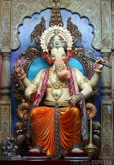 Lalbaugcha Raja 2014 First Look Wallpaper Jai Ganesh, Ganesh Idol, Ganesh Statue, Shree Ganesh, Lord Ganesha, Lord Shiva, Look Wallpaper, Ganesh Wallpaper, Ganesha Pictures