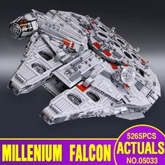 Lepin 05033 5265 Pz Star Wars Ultimate collector Millennium Falcon Modello Building Blocks Mattoni Kit Giocattolo Regalo Compatibile 10179