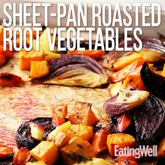 vegetable recipes One pan is all you need for a heaping pile of nutritious, tender and colorful root vegetables. Whip up this large-batch recipe at the beginning of the week to use in easy, healthy dinners all week long.