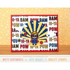 Card created by designer Kristie Larsen using the Sweet Stamp Shop Girl Power stamp set