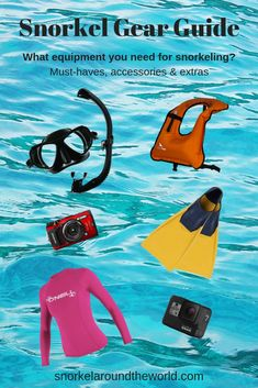 Complete snorkel gear guide 2019 The complete snorkel gear guide. What equipment you need for snorkeling? How to choose snorkel gear? What accessories you need for snorkeling? Snorkel gear tips. Underwater camera buying tips. Scuba Diving Gear, Cave Diving, Snorkel Gear, Underwater Photography, Camera Photography, Maui Vacation, Hawaii Travel, Gopro Hero 5, Big Island Hawaii