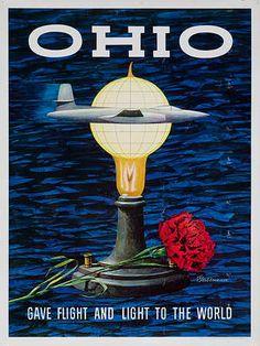 vintage ohio tourism poster