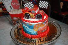 Cars Lightening McQueen birthday party cake