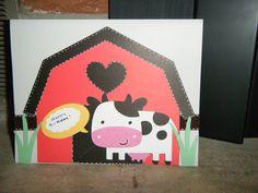 Cow themed birthday card
