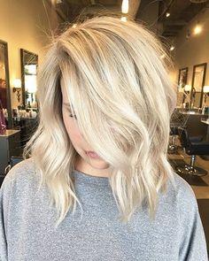 Medium Blonde Hair, Short Blonde, Baby Blonde Hair, Blonde Highlights Short Hair, Icy Blonde, Bright Blonde, Ombre Hair Color, Blonde Color, Blonde Shades