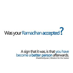 Was your Ramadhan accepted?