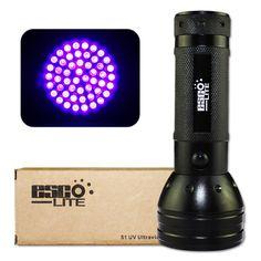 Esco-Lite 395 nM 51 UV Ultraviolet LED flashlight Blacklight 3 AA Battery