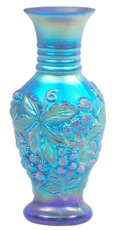 *FENTON ART GLASS ~ Handpainted Favrene Vase Fenton Art Glass Newsletter