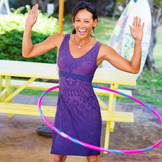 This dress looks so comfy and carefree.  I can go straight from my work-out clothes into this dress and look put together.  That's why I LOVE Athleta!!