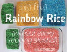 Rainbow Rice without rubbing alcohol. blog.jaxinthebox.com