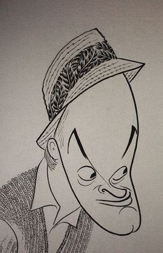 al-hirschfeld - Bob Hope Caricature Artist, Caricature Drawing, Funny Caricatures, Celebrity Caricatures, Hope Art, Ligne Claire, You Draw, Weird Pictures, Black And White Portraits