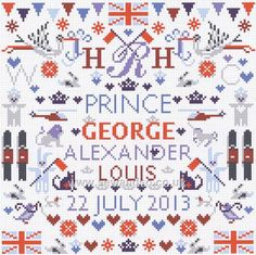 Royal Baby sampler – French Needlework Kits, Cross Stitch, Embroidery, Sophie Digard – The French Needle