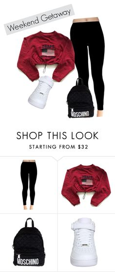 """""""Untitled #40"""" by dancerlife999 ❤ liked on Polyvore featuring Chaps, Moschino and NIKE"""