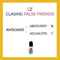 Cuidado si solicitas un abogado igual te dan un aguacate    ...   #falsefriends #inglesonline #englishlesson #inglesrapido #englishforkids Avocado Chicken, Chicken Salad, False Friends, English Tips, Vocabulary, Spanish, Words, Memes, Fake Friends Status