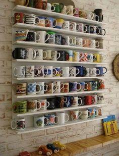 Resultado de imagen para repisas para colecciones de mugs