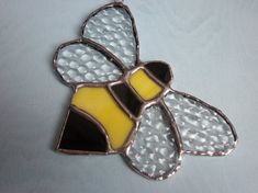 Items similar to Bumble Bee- Stained Glass Suncatcher- dotted wings on Etsy