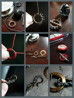DIY Bijoux Details make the difference. Ideas for embellishing plain commercial clasps. #
