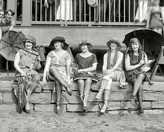 A 'Bathing Costume Contest' at the Tidal Basin beach, Washington DC. 1921