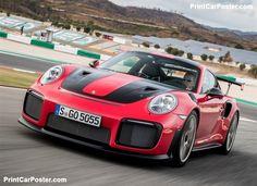Porsche 911 GT2 RS 2018 poster, #poster, #mousepad, #tshirt, #printcarposter
