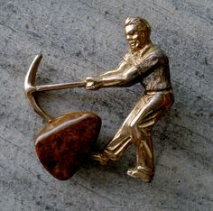 Antique Miner Pin