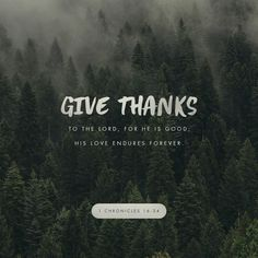 1 Chronicles Give thanks to the LORD, for he is good! His faithful love endures forever. Scripture Verses, Bible Verses Quotes, Bible Scriptures, La Sainte Bible, 1 Chronicles 16, Bible Love, Bible Prayers, Daily Bible, Daily Word
