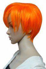 Women's 25cm Orange Short Fashion Wig