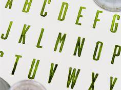 green lettering