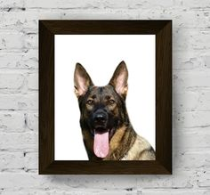 german shepherd, dog photography, animal wall art, animal print nursery, pet portrait, kids room poster, printable art, digital download