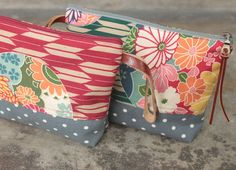 Two Tone Pouch Asian themed fabric by MESIMU on Etsy