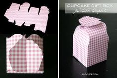 Cupcake Gift Box Printable Template by aying.sabater