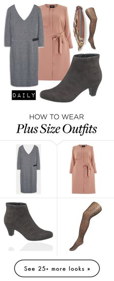 """daily"" by tiinaansorg on Polyvore featuring Carmakoma, MANGO, Violeta by Mango, plus and plussize"