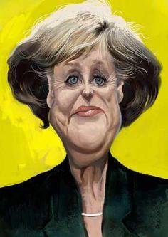 Cartoon: Angela Merkel (medium) by Caricaturas tagged angela,merkel
