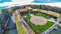 A bird's eye view of the beautiful Chateau de Villiers Le Mahieu in the Yvelines département of France.
