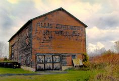 Old Barn with Allis Chambers Farm Equipment painted on it