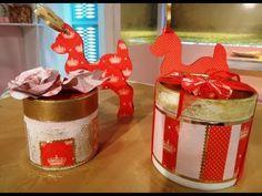 Decoupage sobre cajas de dulce