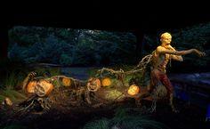 Zumbi Sculpture made of Pumpkin by Ray Villafane