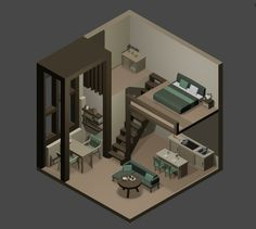 Scholarly publicized minecraft building ideas click over here now Isometric Art, Isometric Design, Minecraft Interior Design, White Room Decor, Modern Apartment Design, Game Room Design, Modelos 3d, Pc Setup, Aesthetic Bedroom