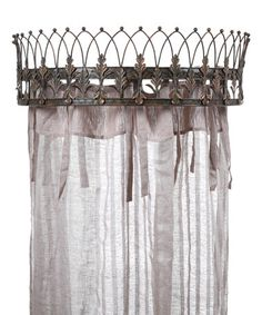 Curtain Crown #zulily #zulilyfinds  I like the idea of this for a sunroom, maybe a different shape and no curtains.