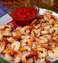 "~Roasted Shrimp Cocktail~ This takes the typical ""shrimp ring"" to the next level. Great flavor, and super easy, your guests will love this!"