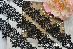 Guipure lace trim with leaves and branches, venise lace trim, wedding lace trim, 2 1/4 inches wide, GL-45