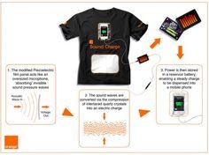 orange sound tee - wearable power