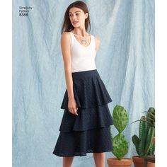 Tiered Skirt | Pattern S8388 | Simplicity Summer 2017