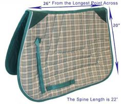 Derby Originals Fleece Padded Contour All Purpose English Saddle Pad