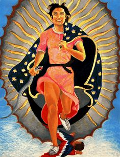 Yolanda M. Lopez-Portrait of the Artist as the Virgin of Guadalupe
