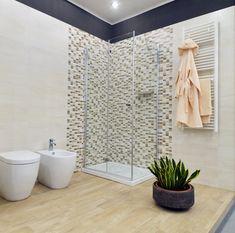 doccia con mosaico - Cerca con Google My House, Sweet Home, New Homes, Bathtub, Curtains, Bathroom, Google, Houses, Trendy Tree